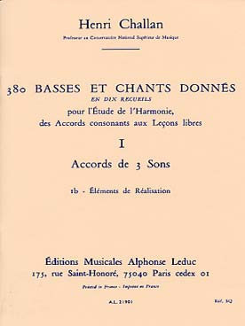 380 BASSES ET CHANTS DONNEES VOL 1B