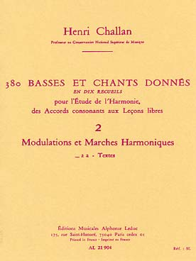 380 BASSES ET CHANTS DONNEES VOL 2A