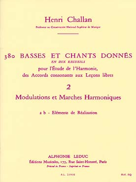 380 BASSES ET CHANTS DONNEES VOL 2B