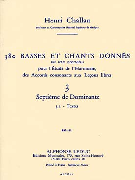 380 BASSES ET CHANTS DONNEES VOL 3A