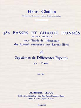 380 BASSES ET CHANTS DONNEES VOL 4A