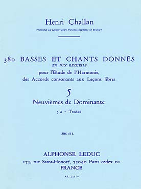 380 BASSES ET CHANTS DONNEES VOL 5A