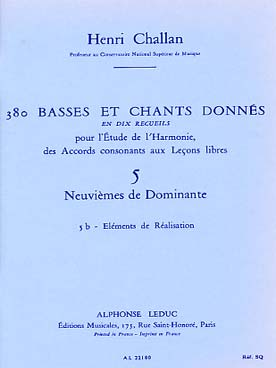 380 BASSES ET CHANTS DONNEES VOL 5B
