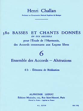 380 BASSES ET CHANTS DONNEES VOL 6B