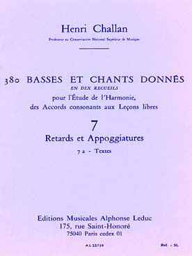 380 BASSES ET CHANTS DONNEES VOL 7A