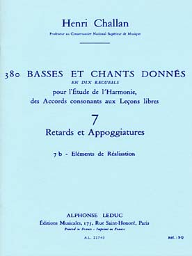 380 BASSES ET CHANTS DONNEES VOL 7B