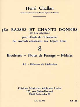 380 BASSES ET CHANTS DONNEES VOL 8B
