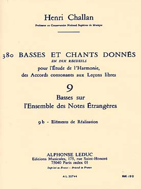 380 BASSES ET CHANTS DONNEES VOL 9B