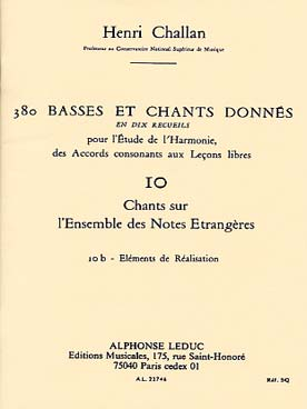 380 BASSES ET CHANTS DONNEES VOL 10B
