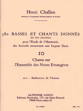 380 BASSES ET CHANTS DONNEES VOL 10C