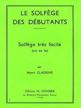 LE SOLFEGE DES DEBUTANTS VOL 3