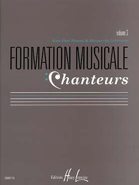 FORMATION MUSICALE CHANTEURS VOL 3