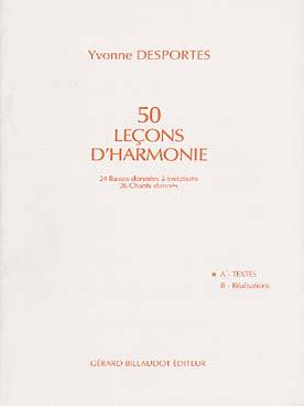 50 LECONS D\'HARMONIE VOL A TEXTES