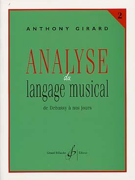 ANALYSE DU LANGAGE MUSICAL VOL 2