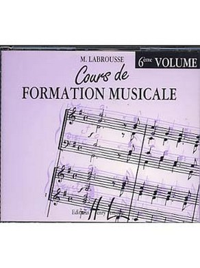 CD COURS DE FORMATION MUSICALE VOLUME 6