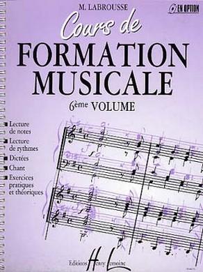 COURS DE FORMATION MUSICALE VOLUME 6