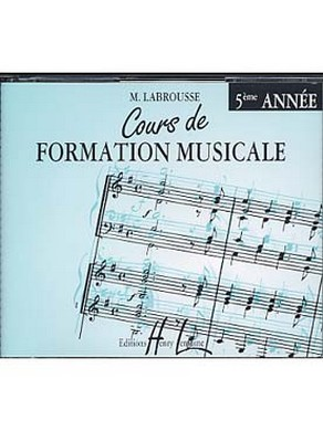 CD COURS DE FORMATION MUSICALE VOLUME 5