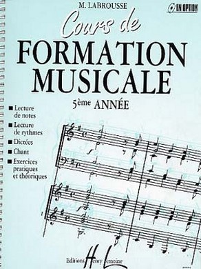 COURS DE FORMATION MUSICALE VOLUME 5