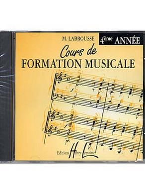 CD COURS DE FORMATION MUSICALE VOLUME 4