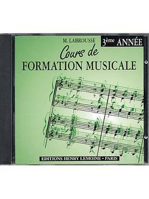 CD COURS DE FORMATION MUSICALE VOLUME 3