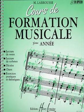 COURS DE FORMATION MUSICALE VOLUME 3