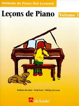 METHODE DE PIANO HAL LEONARD LECON VOL 3