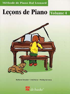 METHODE DE PIANO HAL LEONARD LECON VOL 4