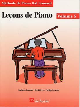 METHODE DE PIANO HAL LEONARD LECON VOL 5 + CD