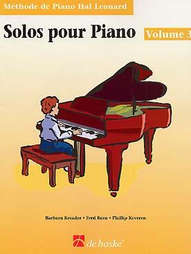 METHODE DE PIANO HAL LEONARD SOLOS VOL 3
