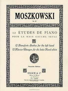 MOSZKOWSKI 12 ETUDES OP 92 MAIN GAUCHE