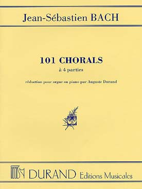 BACH 101 CHORALS A 4 PARTIES