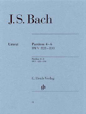 BACH PARTITIA 4-6 BWV 828-830