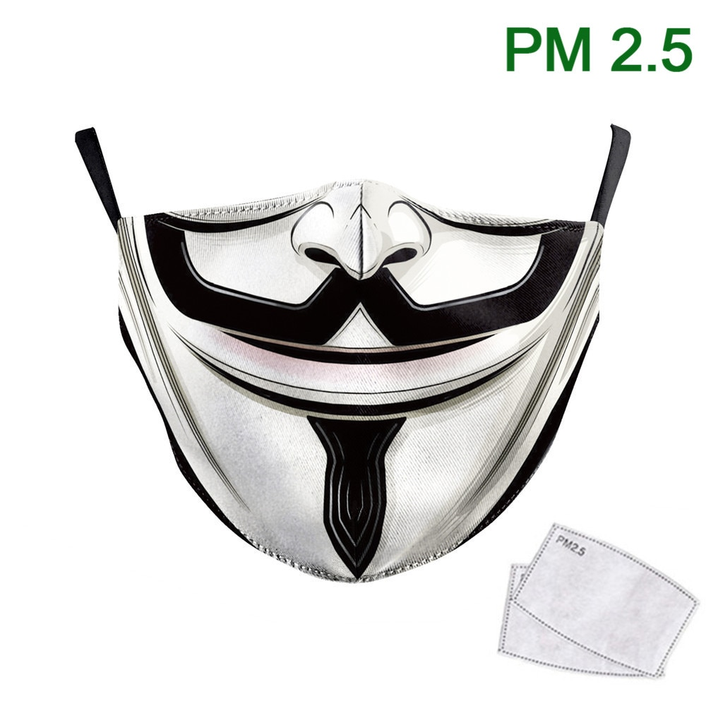 Masque de protection bas de visage genre humoristique.
