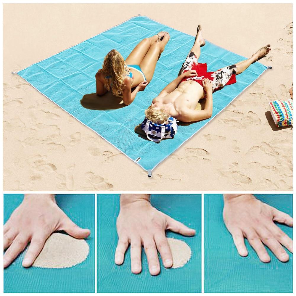 Serviette de plage XXL, anti bourrasque et anti sable !