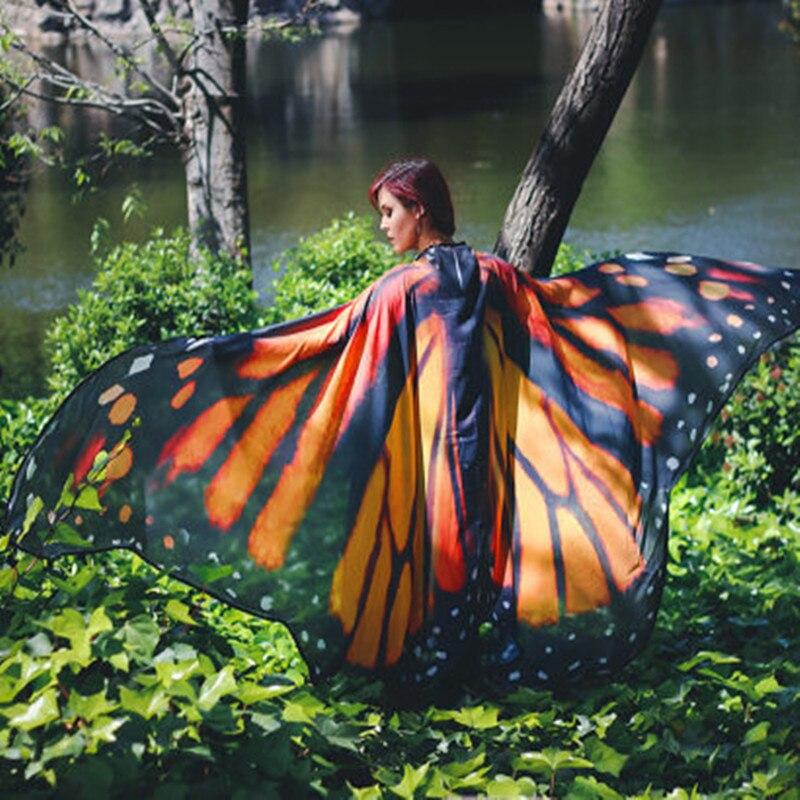 Serviette-de-plage-papillon-grande-taille-147x197cm-pointe-color-e-chemise-enveloppante-en-mousseline-de-soie