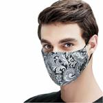 Kpop-coton-noir-masque-bouche-masque-Anti-PM2-5-poussi-re-bouche-masque-avec-6-pi