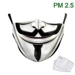 Mignon-Vendetta-demi-masque-de-visage-Cosplay-masque-d-impression-crochet-d-oreille-lavable-tissu-masques