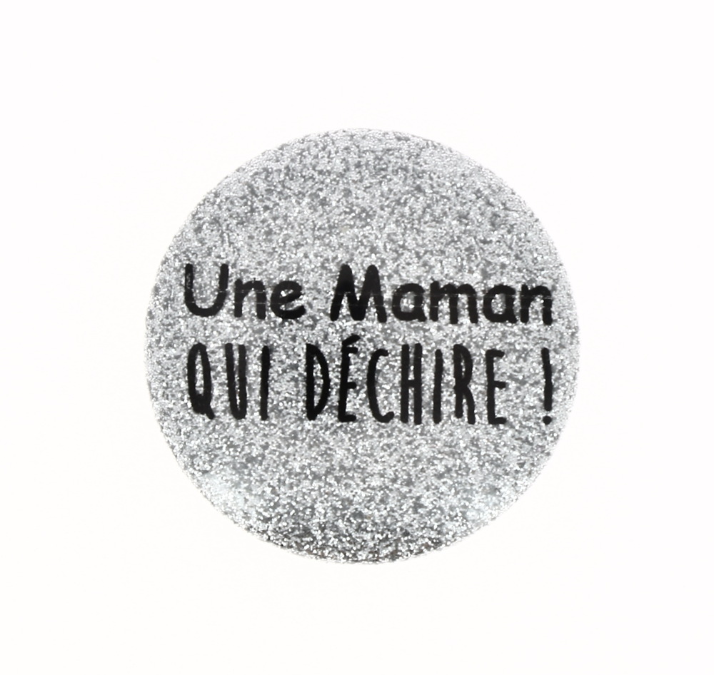 Badge aimant 38 mm texte PERSONNALISABLE