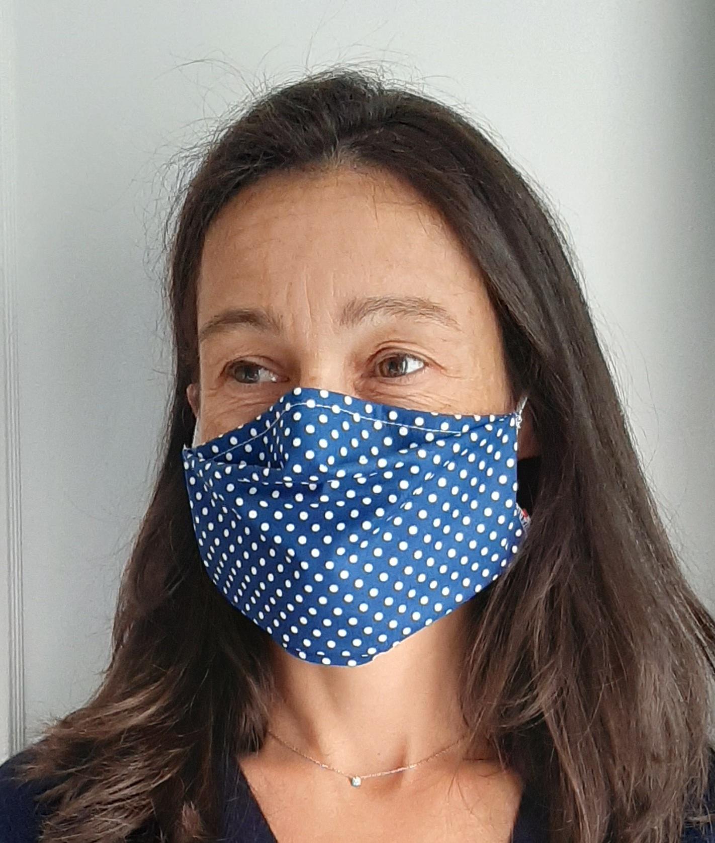 Masque Grand Public UNS1 coupe droite - Lavable - ADULTE