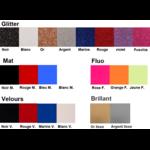 Nuancier couleur des motifs