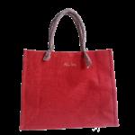 Sac shopping jute rouge dos anses soleil Alex Doré 800px