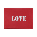 Etui Ipad rouge LOVE pailletté argent Alex Doré