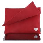 Etui Ipad rouge LOVE pailletté argent intérieur Alex Doré