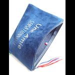 Pochette Indispensable suedine ouverte bleu biface une amie sensationnelle glitter argent Alex Doré