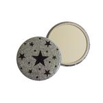 Miroir de poche galaxie glitter argent Alex Doré