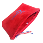 Pochette Indispensable ouverte suedine rouge Very Important Papy bleu mat Alex Doré