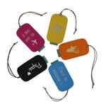 Etiquettes bagage 5 couleurs20