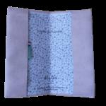 Protège livret de famille ouvert suédine rose poudré biface Un Famille en Or Alex Doré