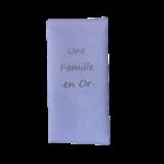 Protège livret de famille suédine rose poudré biface Un Famille en Or Alex Doré