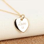 Collier-coeur-plaque-or-Love-U-alex-dore-graver-personnalise-cadeau-naissance-mariage-anniversaire-fete-mere-paillettes-glitter